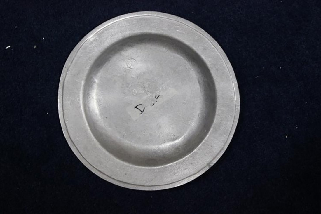 White Pewter Serving Plate & Wilton Pewter Plate - 2