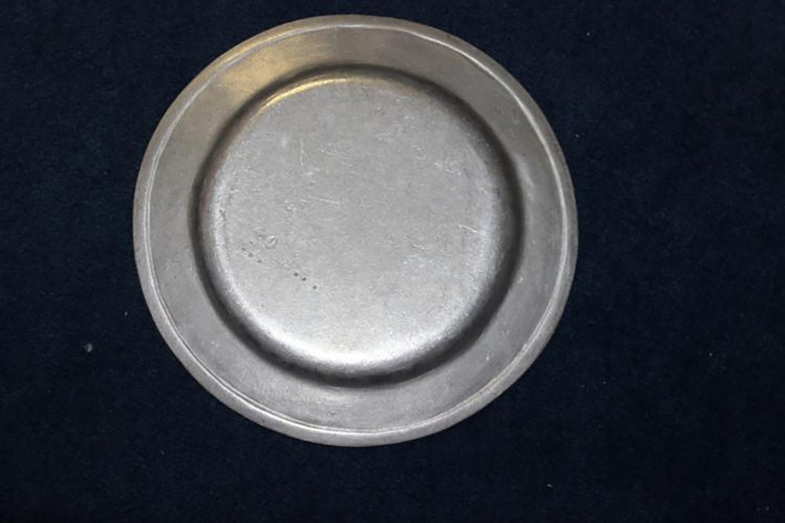 White Pewter Serving Plate & Wilton Pewter Plate - 5