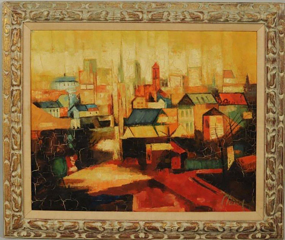 Historic Landscape Oil Painting by Antoni Clavé