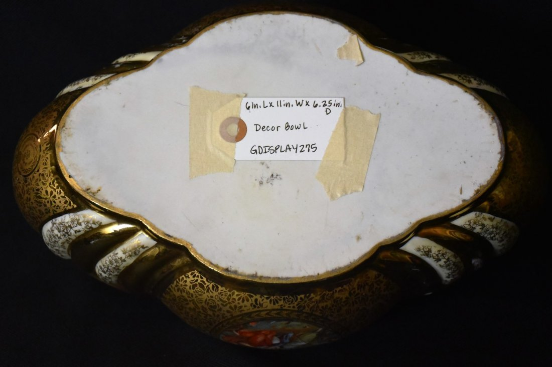 Antique Hand Painted and Gilded French Porcelain Bowl - 6