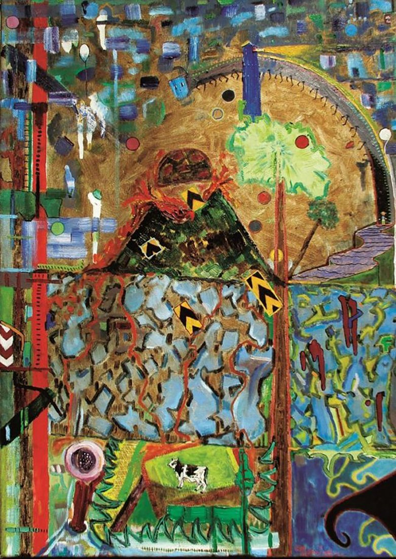 Original Edgar Morales Abstract Oil on Canvas