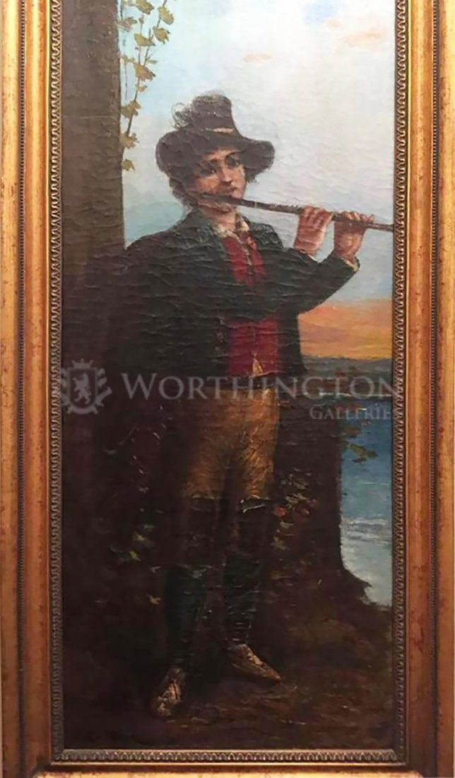 19th Century Portrait Oil Painting European School