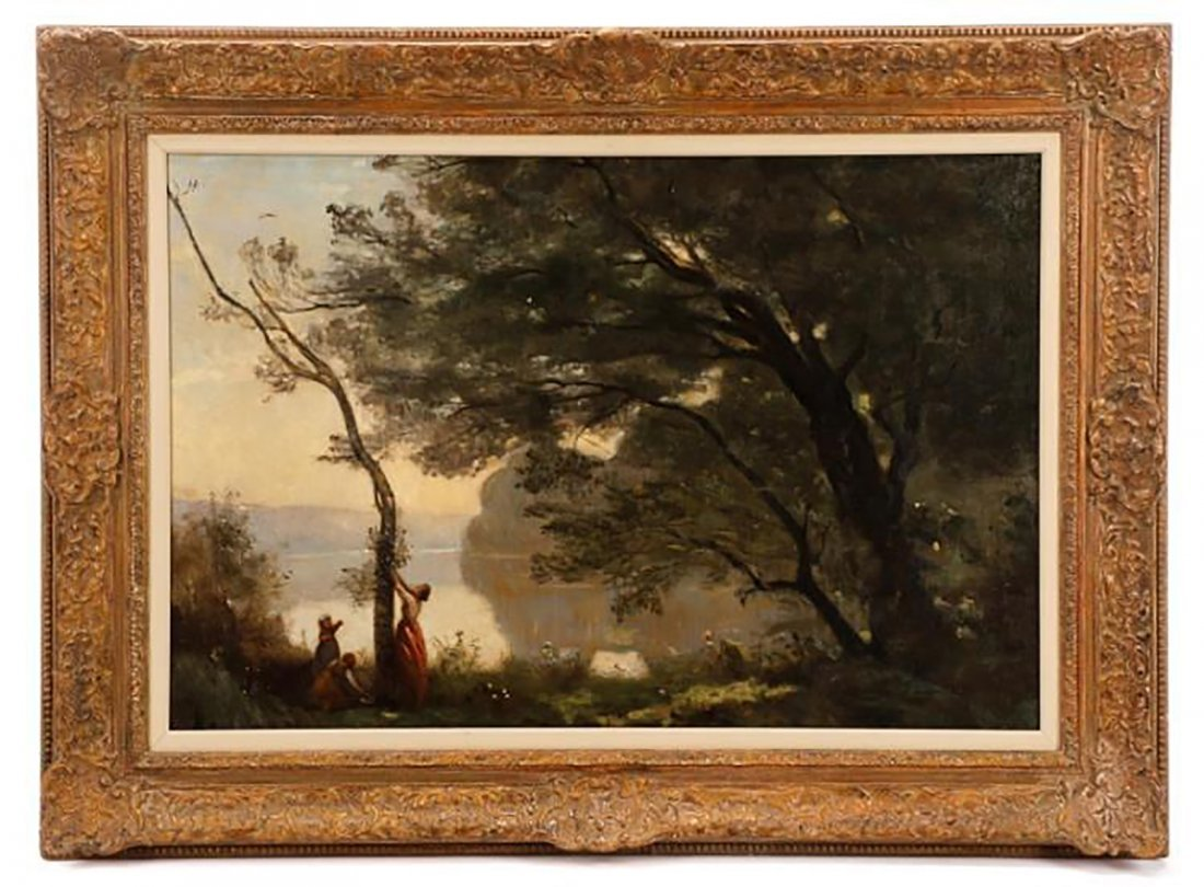 19th Century Landscape Oil Painting by Camille Corot