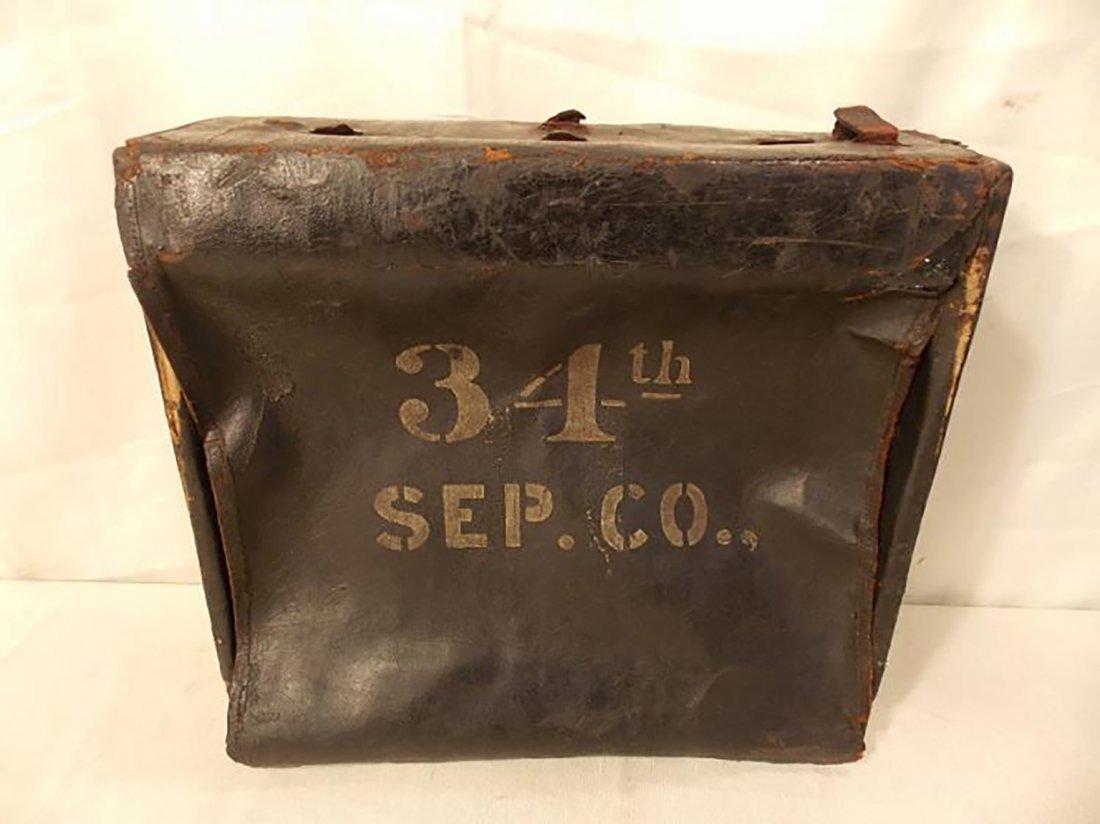 Rare Antique Civil War Infantry Leather Backpack