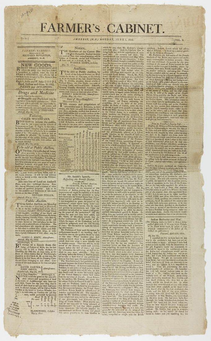 Remarkable War of 1812 Newspaper Articles