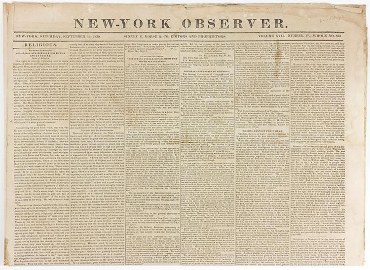 New York Observer Report - Amistad Slave Revolt 1839