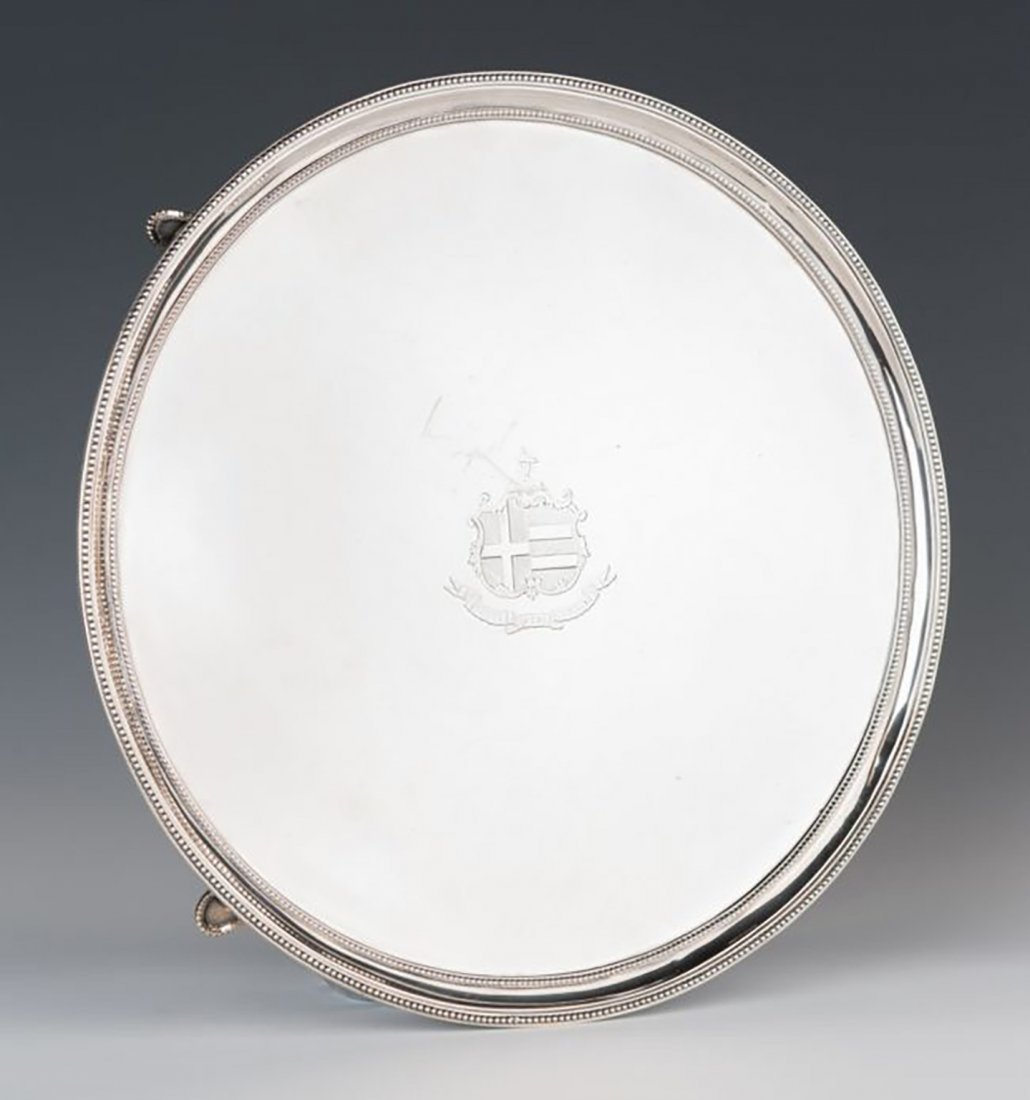 George III Sterling Silver Salver by Henry Chawner 1787