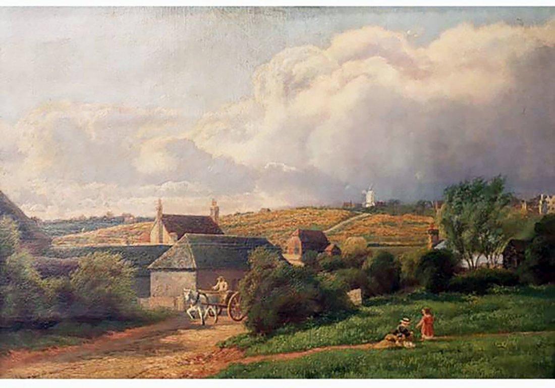 19th Century Antique Landscape Oil Painting