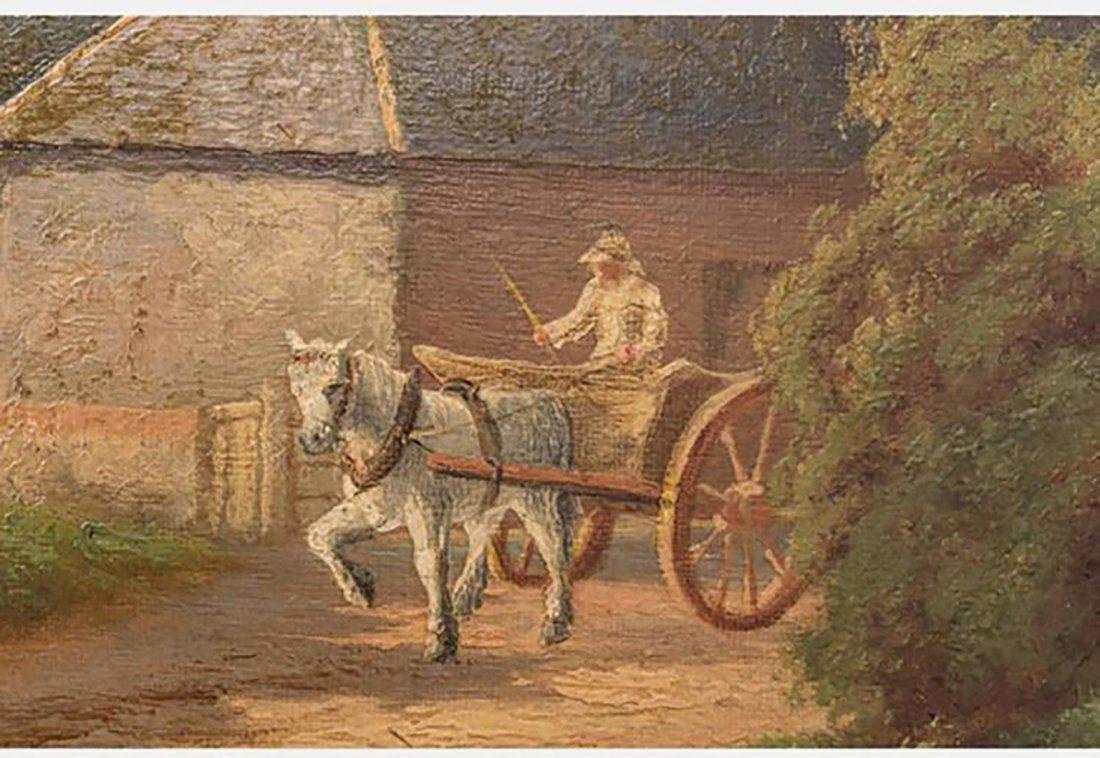 19th Century Antique Landscape Oil Painting - 3