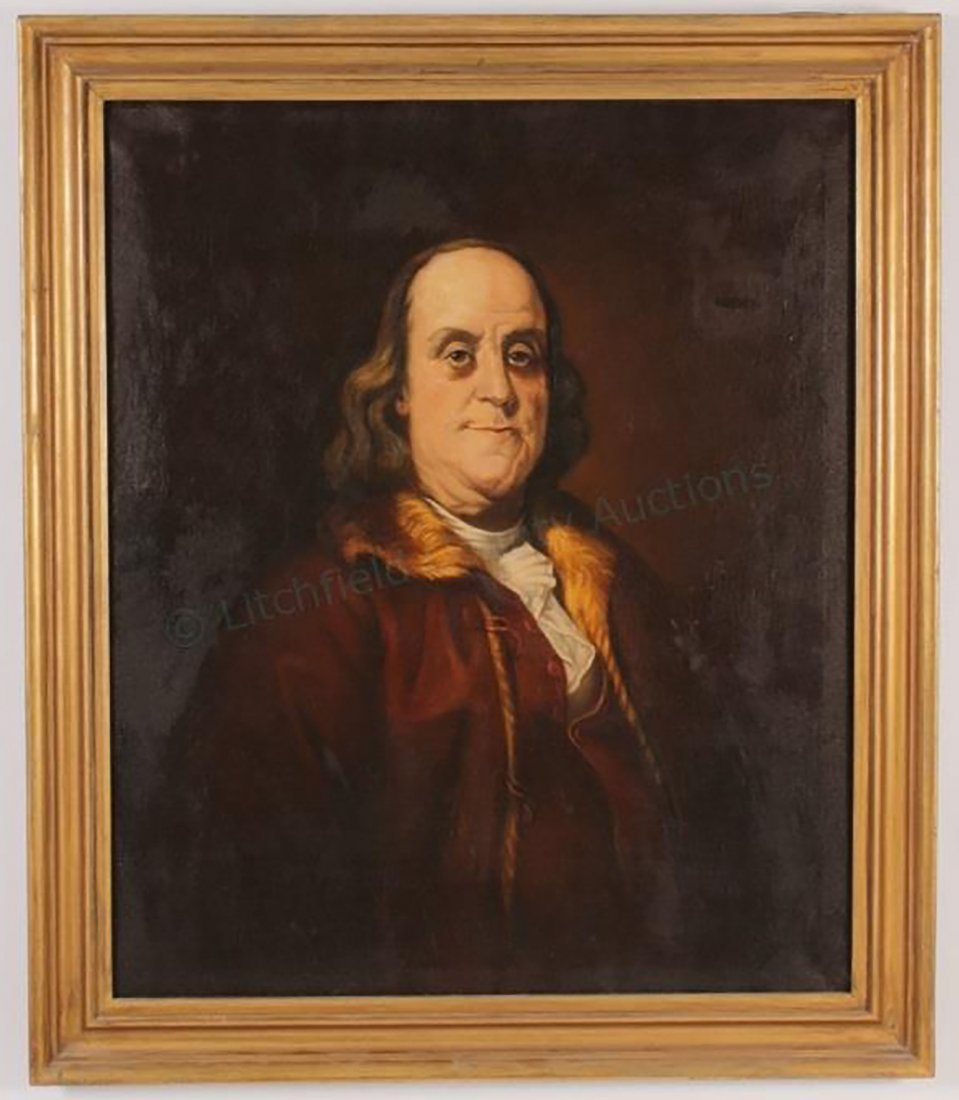 Portrait of Benjamin Franklin After Joseph Duplessis