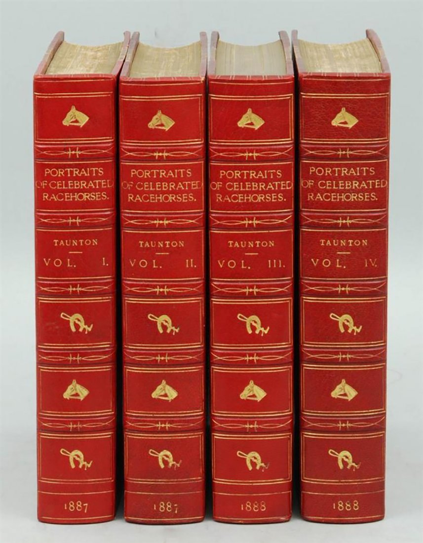 19th Century Leather Books by Thomas Henry Taunton