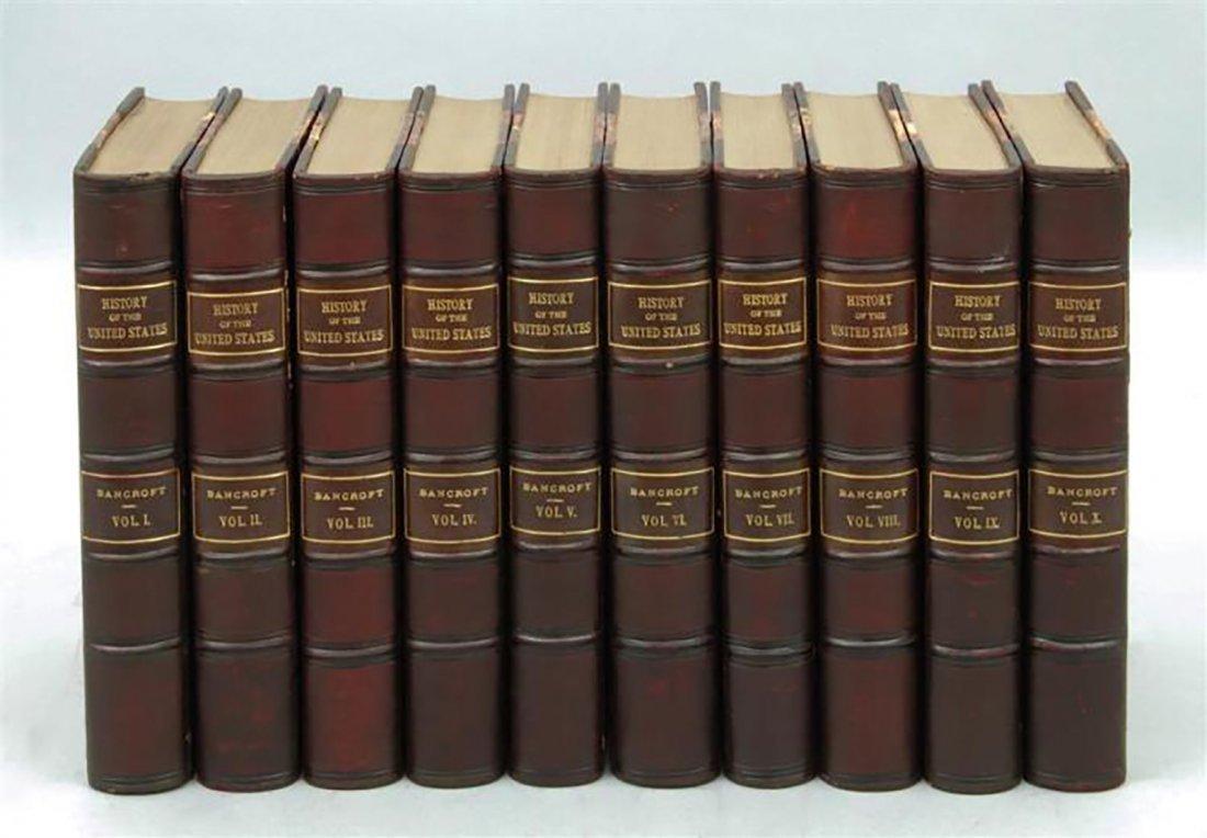 "George Bancroft 10 Volume Set ""History of United States"