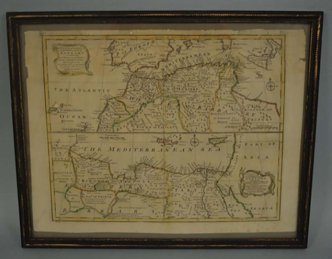 Emanuel Bowen 1740's Map of the Barbary