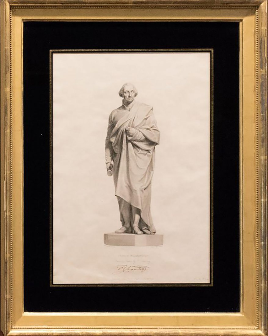 Rare Engraving of George Washington by James Thomson