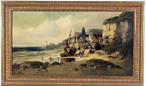 """French Artist J Mazzella Entitled """"Port de Pêche à Maré"""