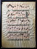 14th Century 2-sided Page of G Antiphonal Sheet Music