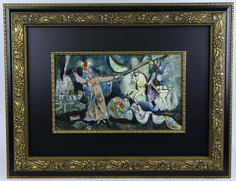 """Augustin Ubeda Figural Oil Painting Entitled """"Nefertiti"""