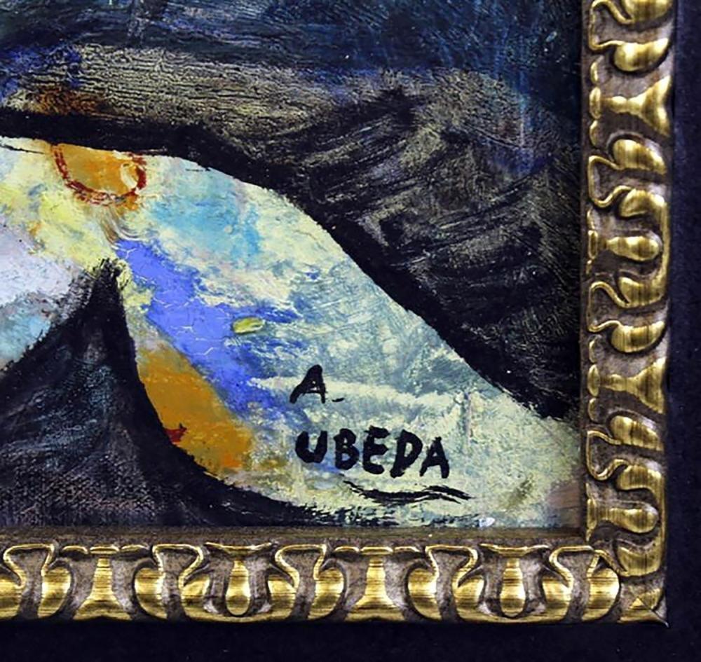 """Augustin Ubeda Figural Oil Painting Entitled """"Nefertiti - 3"""