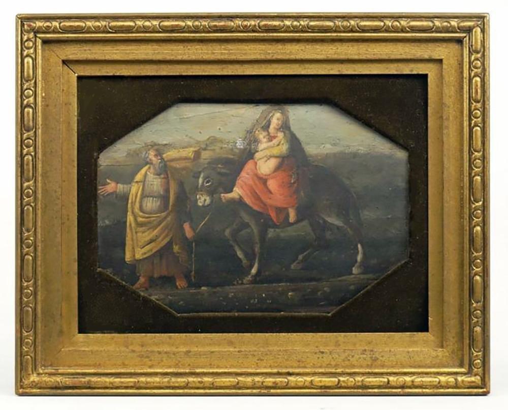 17th Century Flemish School Figural Oil Painting