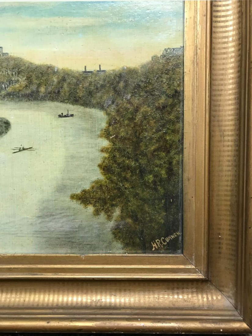 Antique English Landscape Oil Painting by H. R. Curwen - 2