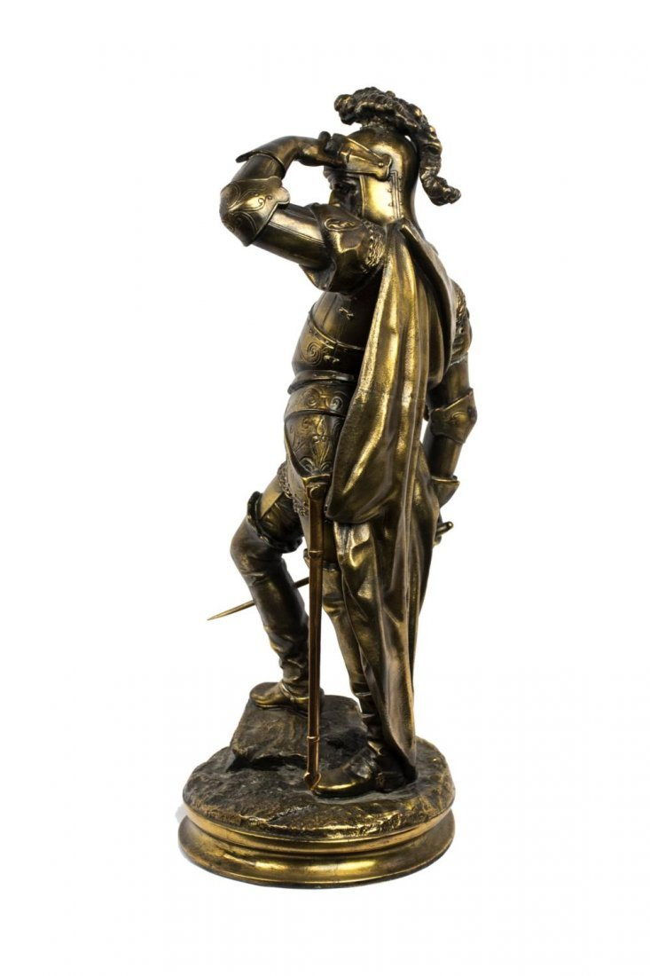 Gilded Bronze Sculpture of a Knight in Armor - 2