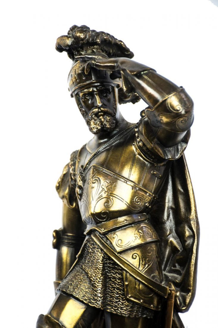 Gilded Bronze Sculpture of a Knight in Armor - 3