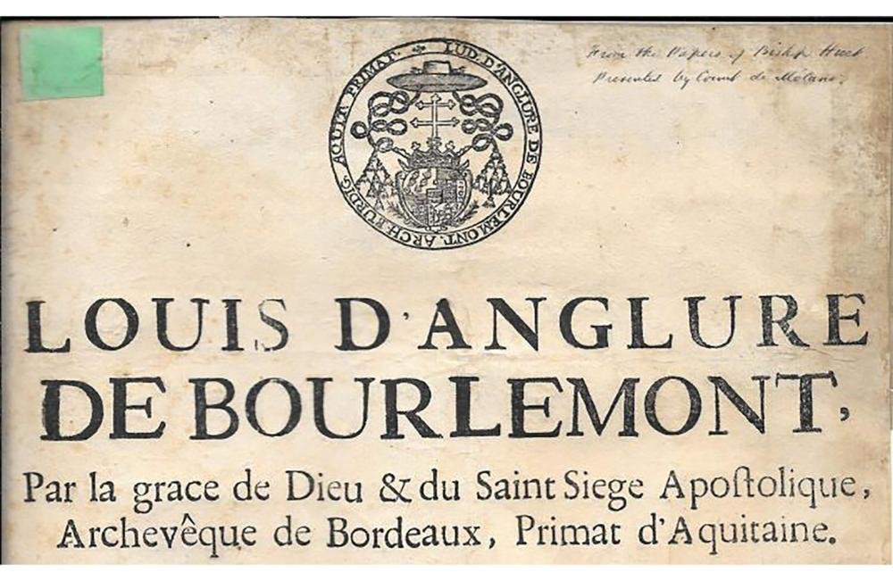1691 French Broadside Signed by Louis d'Anglure Bourlem - 2