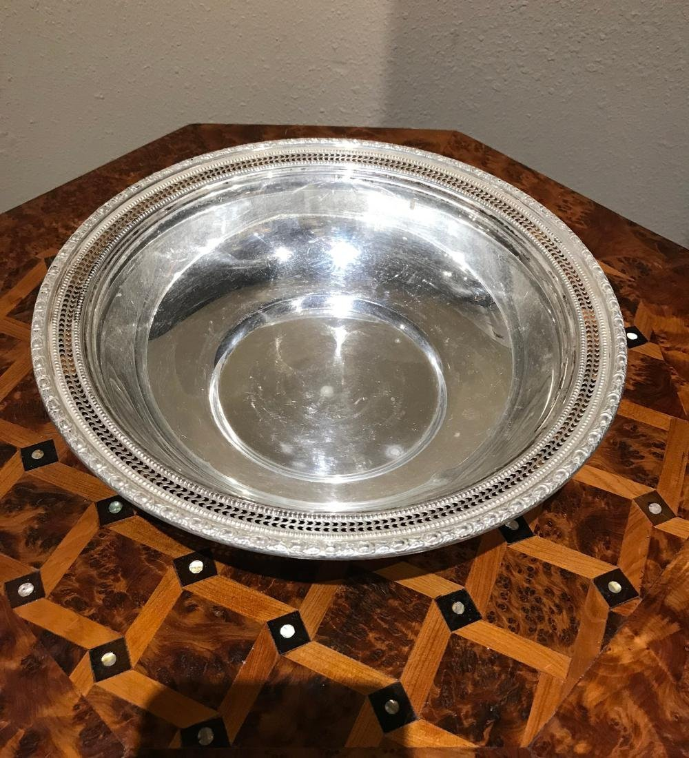 "Sterling Silver Reticulated 10"" Bowl"