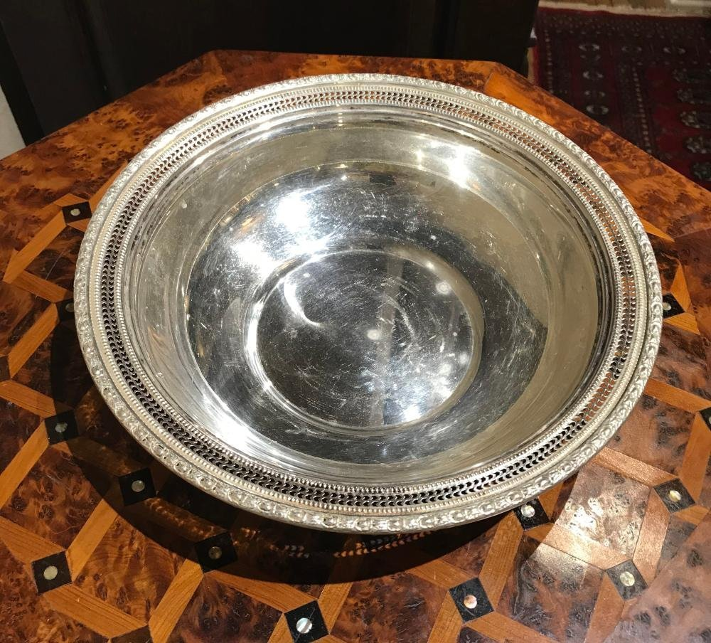 "Sterling Silver Reticulated 10"" Bowl - 2"