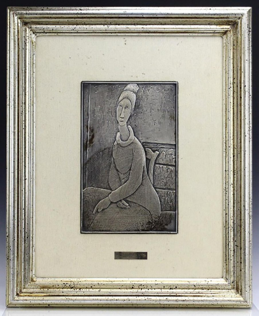Sterling Silver Sculpture after Amedeo Modigliani