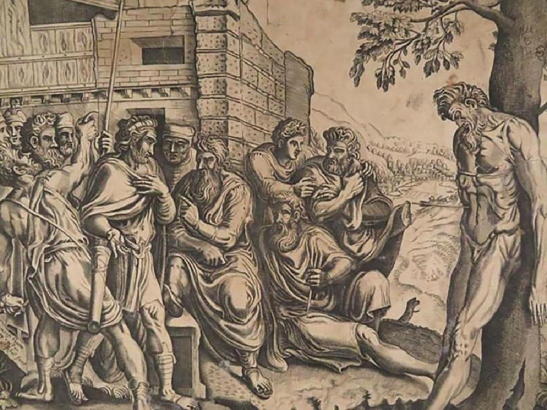 "Rare Frans Floris Engraving ""Gesta Romanarum"" 1558 - 3"