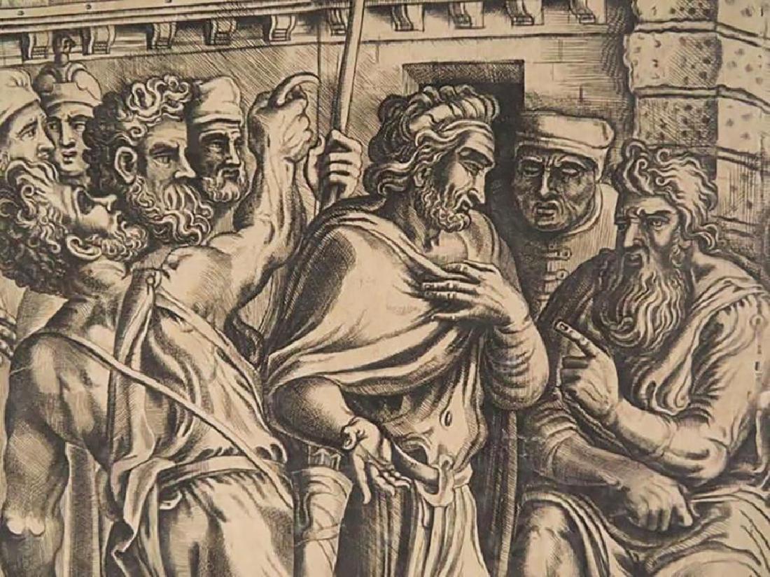 "Rare Frans Floris Engraving ""Gesta Romanarum"" 1558 - 4"
