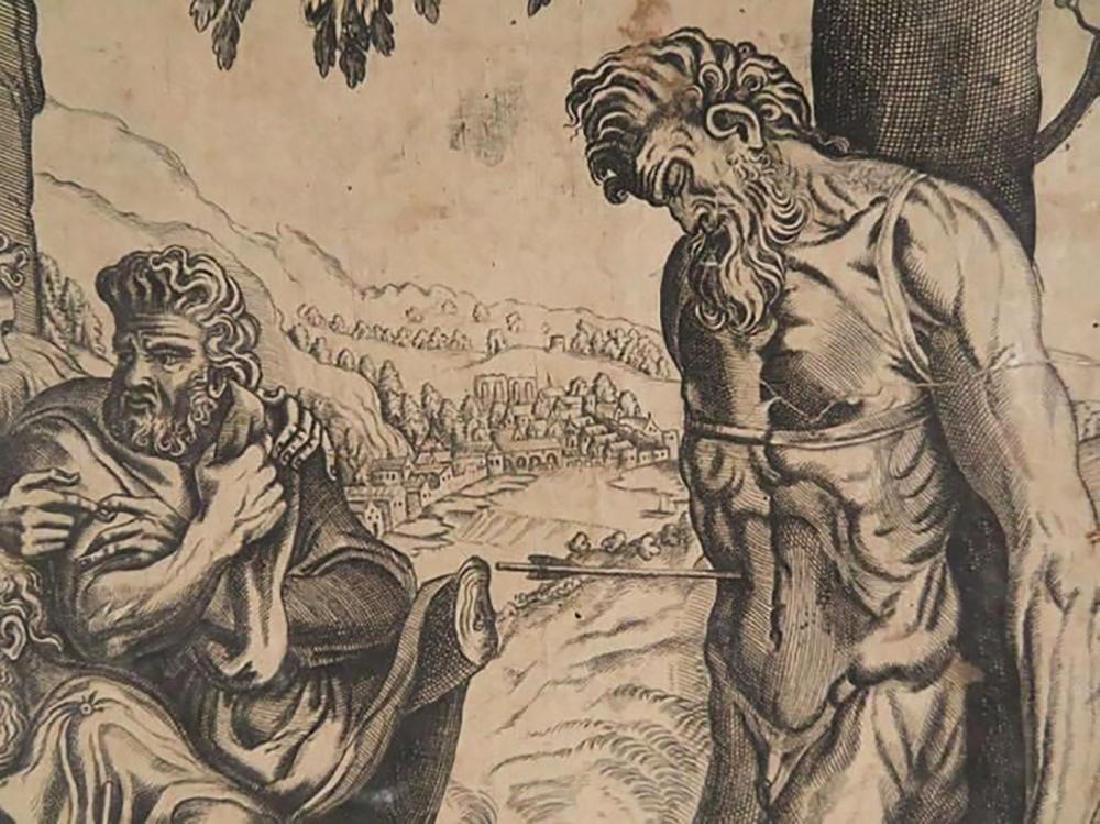 "Rare Frans Floris Engraving ""Gesta Romanarum"" 1558 - 5"