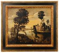 17th C. French Figures/Landscape by Gaspard Dughet