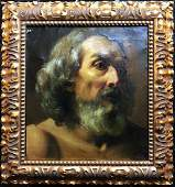 """18th C. Painting by Marco Benefial """"Saint Peter"""""""