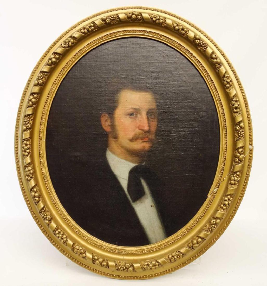 American School Portrait of a Gentleman/ C.L. Elliot