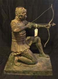 Ancient Greek Warrior Sculpture Bronze of Herakles