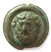 Roman Bronze Phalera Medallion with Gorgoneion Center