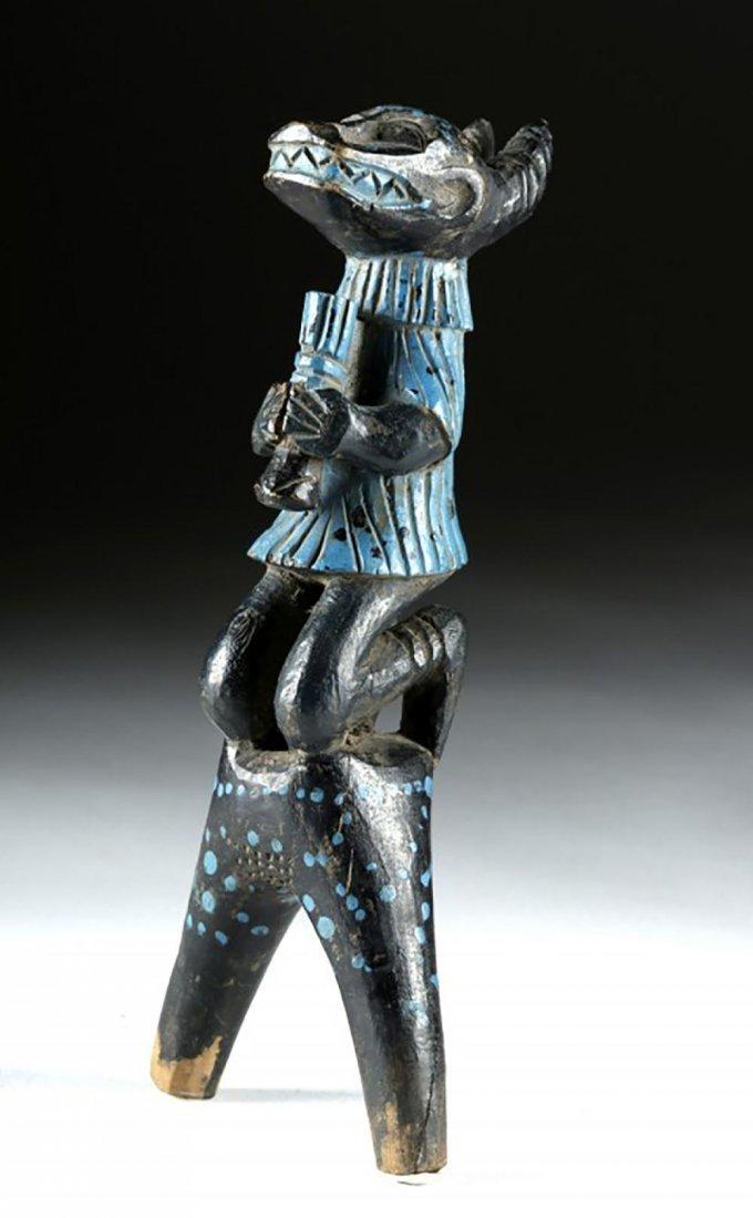 Hand Carved African Baule Slingshot, Antelope Handle