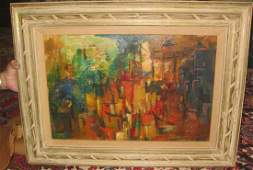 Masterpiece Abstract Oil Painting of Unknown Artist