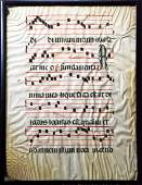 14th c. 2-sided Page of Gregorian Antiphon on Vellum
