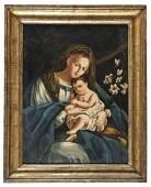 18th c. Italian Oil Painting MADONNA & CHILD
