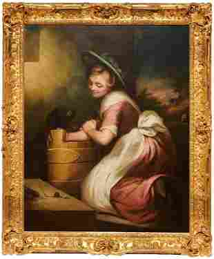 James Northcote 18th c. English Figural Oil Painting