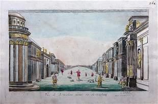 18thC Engraving VUE OF JERUSALEM Louis-Joseph Mondhare