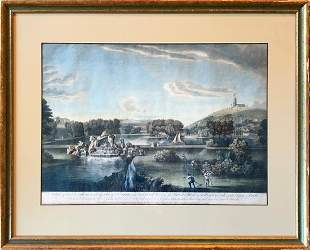 Rare 18th c. Hand-colored Etching After William Hannan