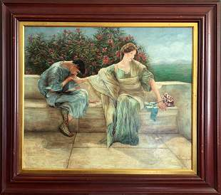 Figural Oil Painting after Sir Lawrence Alma-Tadema