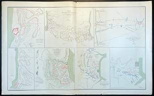 Civil War Atlas Map, Plate XI, Fort Henry & Fort Donels