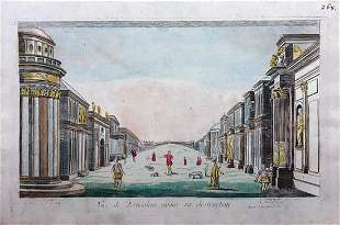 18th c. H/C Engraving VUE OF JERUSALEM Louis-Joseph Mon