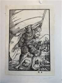 Pair of 16th c. German Woodblocks, Jacob Kallenberg