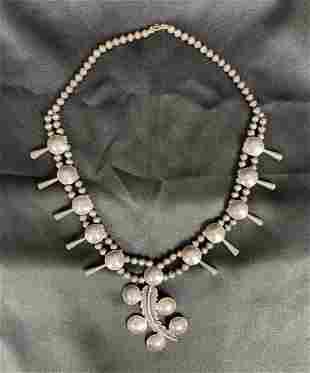 Vintage Navajo Sterling Silver Necklace